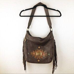 American West purse with fringe boho, prairie
